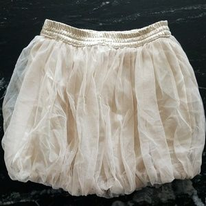 Old Navy Gold bubble skirt